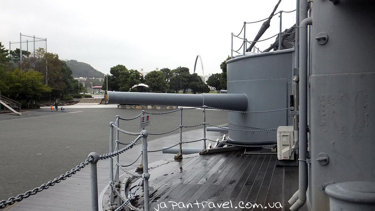 23 Side guns of the Battleship Mikasa