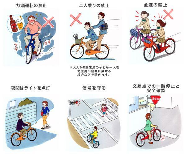 Японська інструкція правил їзди на велосипеді в картинках