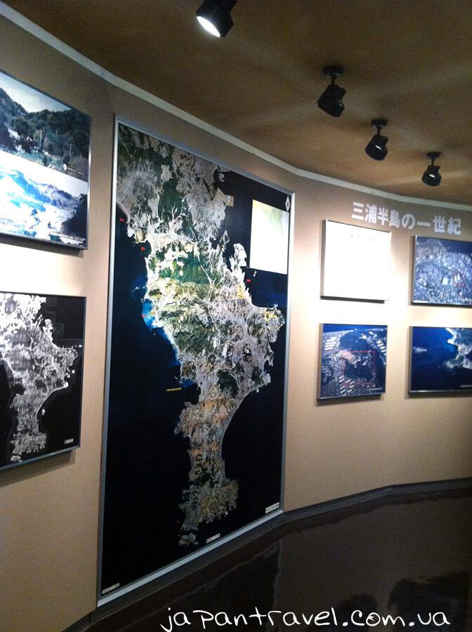 yaponski-ostrovy-reljefna-karta-krajeznavchyj-muzej-mandrivky-yaponijeyu